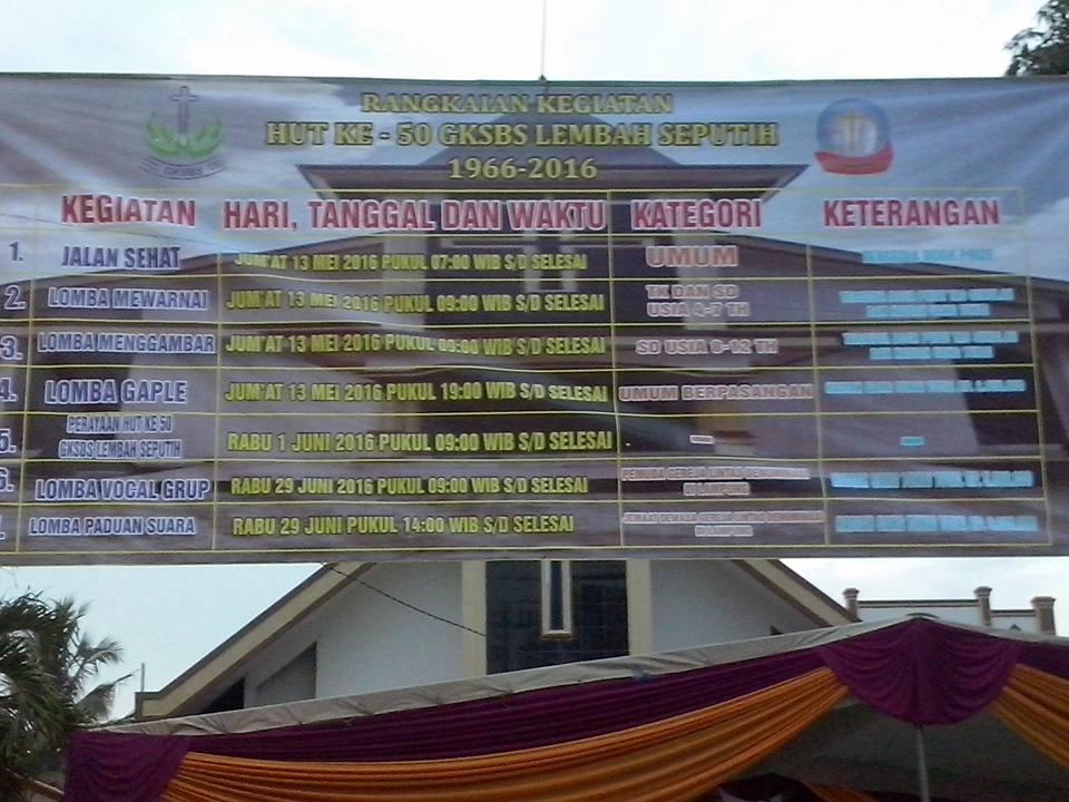poster rangkaian kegiatan HUT Emas GKSBS Lembah Seputih