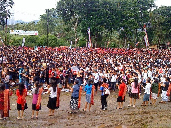 Salah satu acara PIARA (Pesta Iman Anak dan Remaja) GBKP