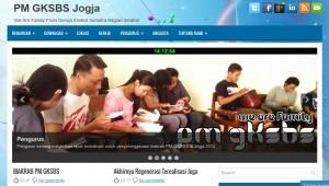 tampilan website PM GKSBS Jogja