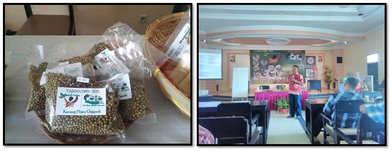 Kacang Hijau Organik sebagai salah satu produk kelompok - Presentasi salah satu Pengurus